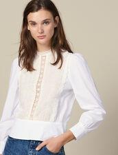 Top Con Pettino In Pizzo : Top & Camicie colore Bianco