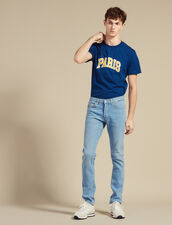 Jeans Délavé Linea Slim : LastChance-CH-HSelection-Pap&Access colore Blue Vintage - Denim