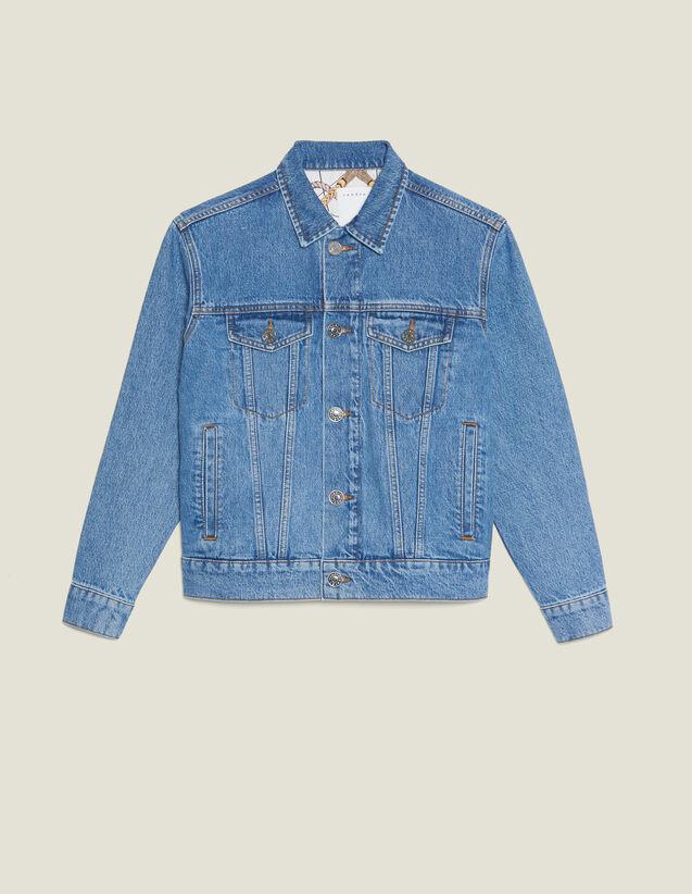 Giacca In Jeans Linea Maschile : Giacche & Giubbotti colore Blue Vintage - Denim