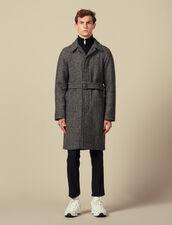 Manteau avec ceinture : LastChance-IT-H50 couleur Noir/Gris