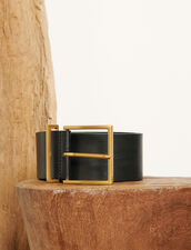 Cintura alta in pelle : Cinture colore Nero