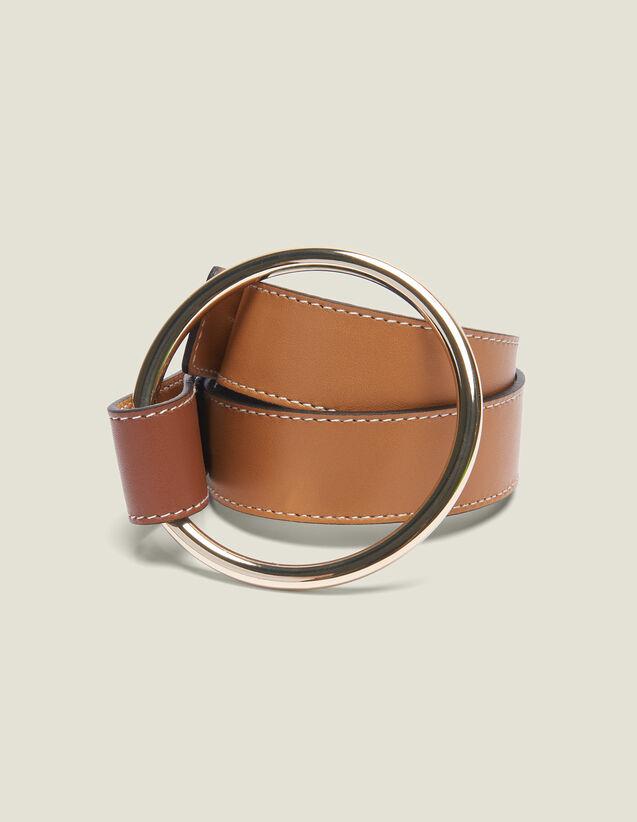 Cintura Con Chiusura Ad Anello : Collezione Estiva colore Cammello