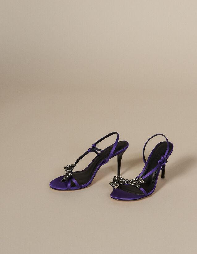 Sandali In Satin Con Fiocco Con Strass : Tutte le Scarpe colore Viola