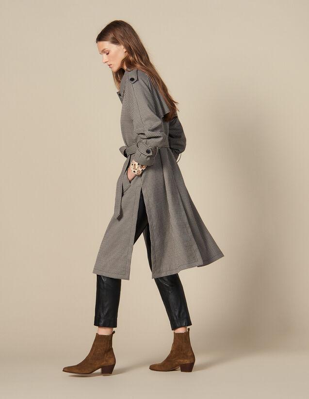 Trench Con Spacchi Laterali : Cappotti colore Marron