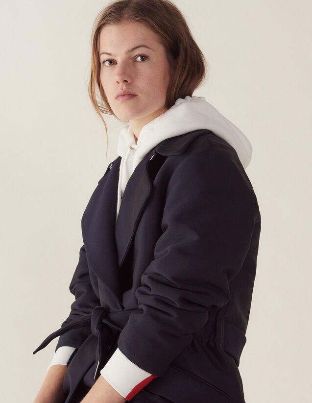 Cappotto Stile Trench : Cappotti colore Blu Marino