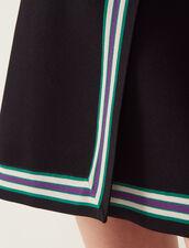 Gonna In Maglia Stile Portafoglio : Gonne & Short colore Nero