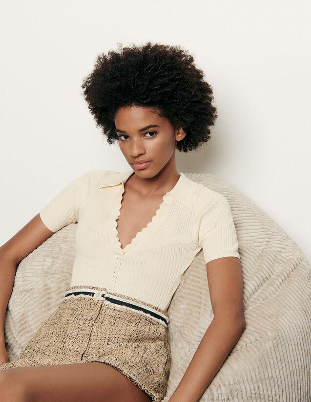 Pullover stile polo : Maglieria & Cardigan colore Ecru
