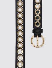 Cintura Con Fibbia Tonda E Occhielli : Cinture colore Nero
