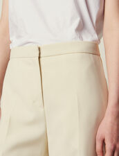 Pantalon De Tailleur : null couleur Ecru