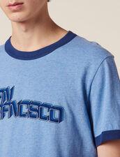 T-Shirt Con Scritta : LastChance-FR-H40 colore Sky Blue