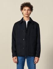 Giacca in panno di lana : -40% colore Cammello