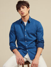 Chemise Casual En Chambray Délavé : LastChance-RE-HSelection-Pap&Access couleur Blue Vintage - Denim