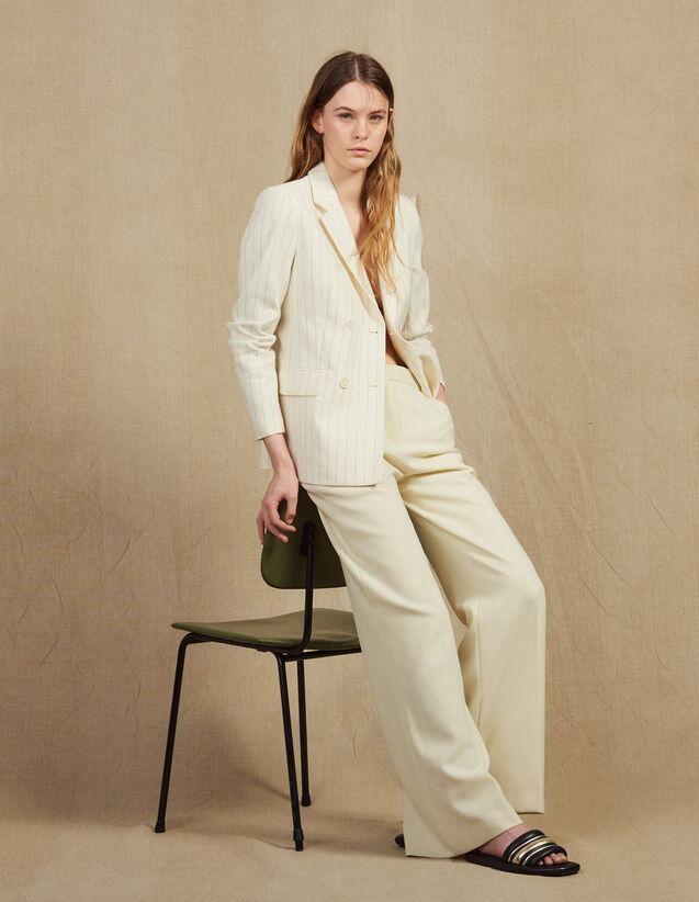 Pantaloni Da Tailleur : null colore Ecru