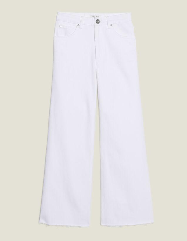 Jeans Svasati A Vita Alta : Jeans colore Bianco