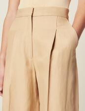 Pantalon Large À Pinces : LastChance-FR-FSelection couleur Beige