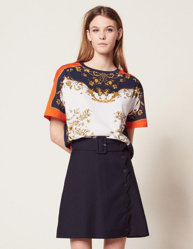 T-Shirt Con Stampa Piazzata : Magliette colore Multicolore