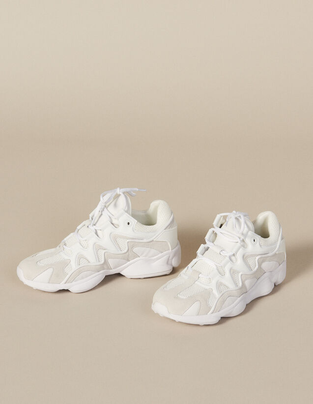 Sneaker in mix di materiali : Scarpe colore Bianco