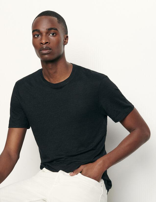 T-shirt in lino : Magliette & Polo colore Nero