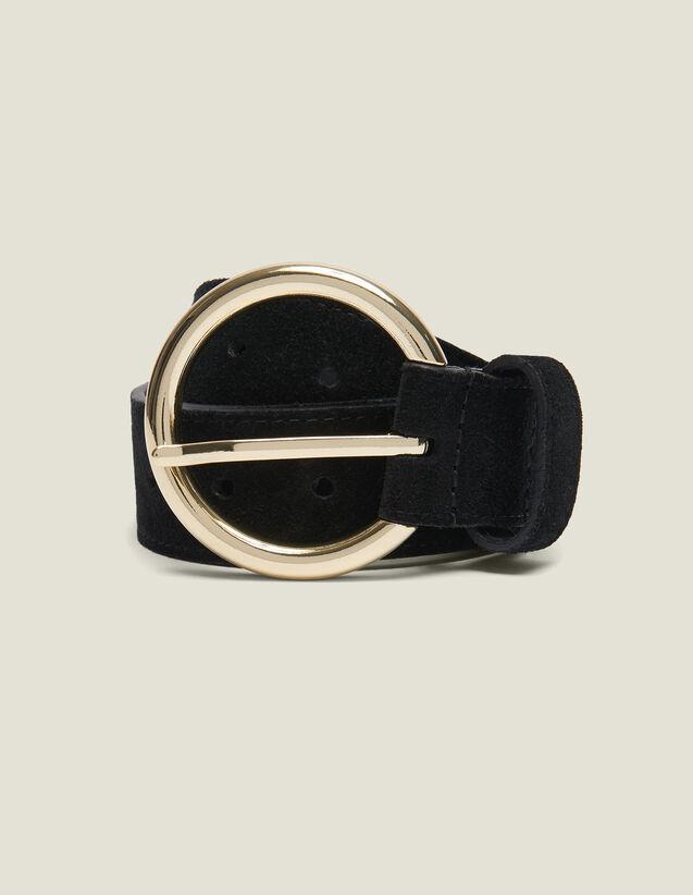 Cintura In Crosta Di Pelle : Cinture colore Nero