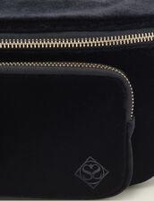 Sac Banane En Velours : FCollection-Hiver-Acc couleur Noir
