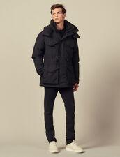 Parka avec duvet mi-longue : LastChance-IT-H50 couleur Noir