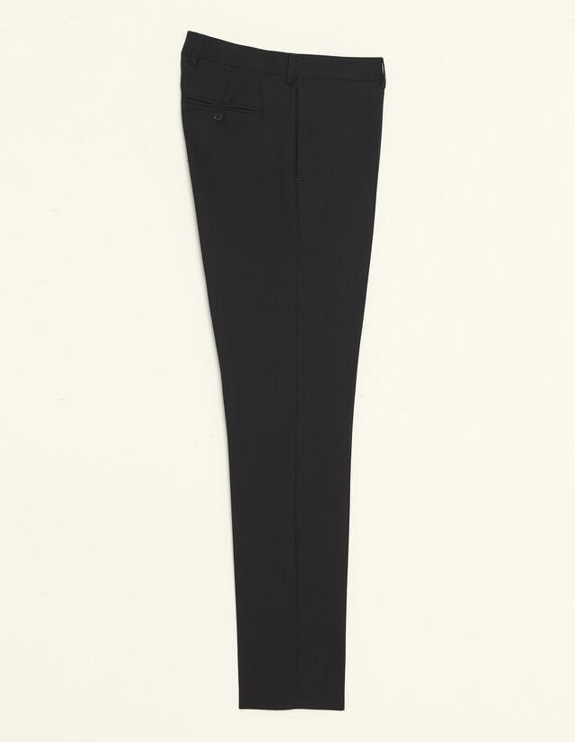 Pantaloni Da Completo In Lana : Sélection Last Chance colore Nero
