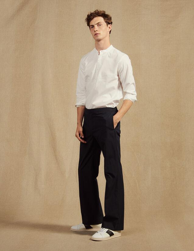Pantalon Taille Élastique En Coton : LastChance-CH-HSelection-Pap&Access couleur Marine
