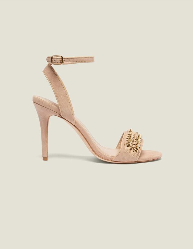 Sandali Dettagli Intrecciati A Catena : Tutte le Scarpe colore Nudo