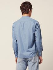 Tunica In Chambray Délavé : Camicie colore Blue Vintage - Denim
