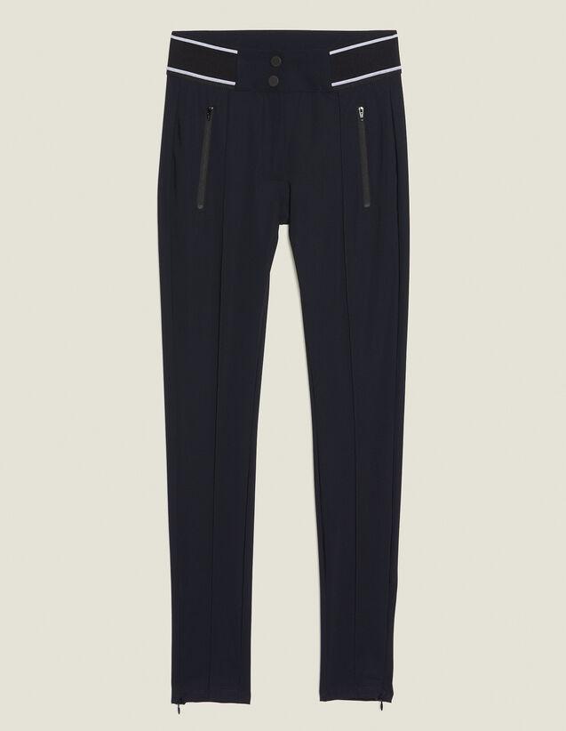 Pantaloni Stile Leggings : Pantaloni colore Nero