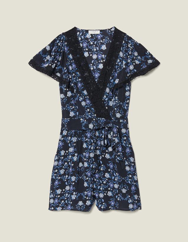 Tuta Pantalone Stampata A Maniche Corte : null colore Blu