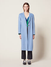 Cappotto In Lana Double Face : null colore Sky Blue