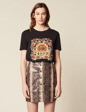 T-Shirt Con Motivo Piazzato : null colore Nero
