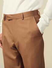 Pantalon de costume en laine : LastChance-IT-H50 couleur Marine