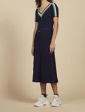 Abito Lungo In Maglia Sportswear : null colore Blu Marino
