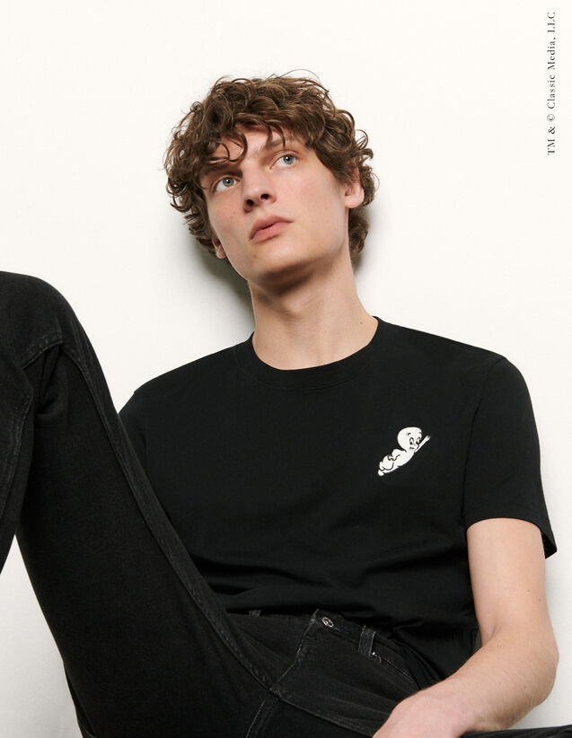 T-shirt Casper : T-shirts & Polos couleur Bleu Ciel