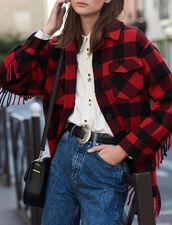 Veste chemise oversize : VP-ES-FBest-sellers couleur Rouge/Noir