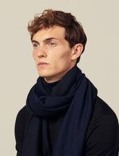 Sciarpa bicolore reversibile : Sciarpe colore Blu Marino