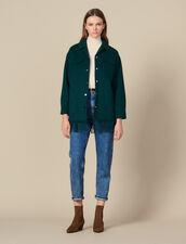 Giacca Camicia Oversize : Giacche & Giubbotti colore Rouge/Noir