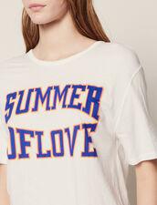 T-Shirt Con Inserti Sulle Spalle : null colore Bianco