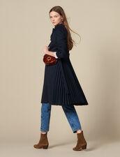Trench Con Inserto Plissettato : Cappotti colore Blu Marino