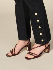 Jeans Svasati Con Spacchi : Jeans colore Nero