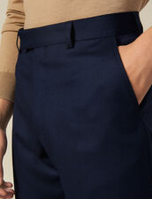 Pantaloni da completo in lana : -50% colore Blu Marino