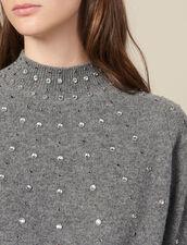 Pullover In Maglia Ornato Da Borchie : LastChance-ES-F30 colore Grigio