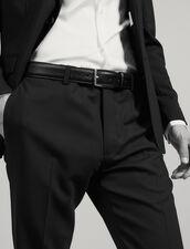 Cintura in pelle Saffiano : Cinture colore Nero