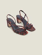 Sandale En Tissu Imprimé Léopard : FLetsgogirls couleur Leopard orange
