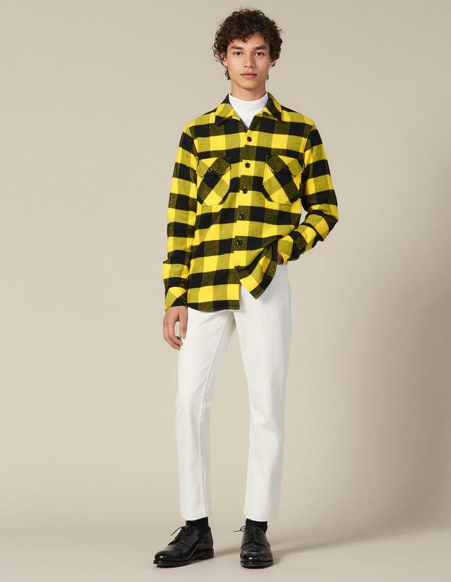 Camicia A Quadri In Cotone : Collezione Inverno colore Giallo