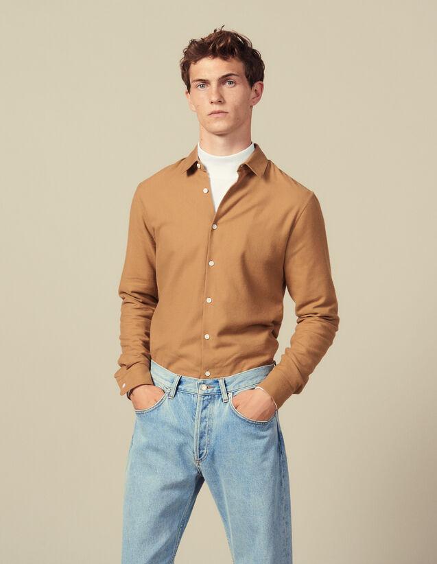 Camicia In Flanella : Camicie colore Ecru