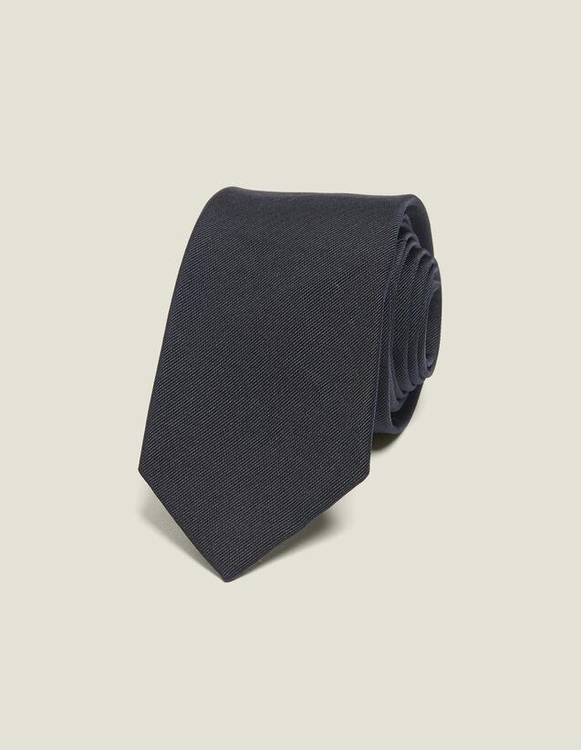 Cravate classique en twill de soie : Cravates & Noeuds Papillon couleur Marine