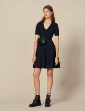 Abito in maglia con colletto da camicia : FBlackFriday-FR-FSelection-Robes colore Blu Marino